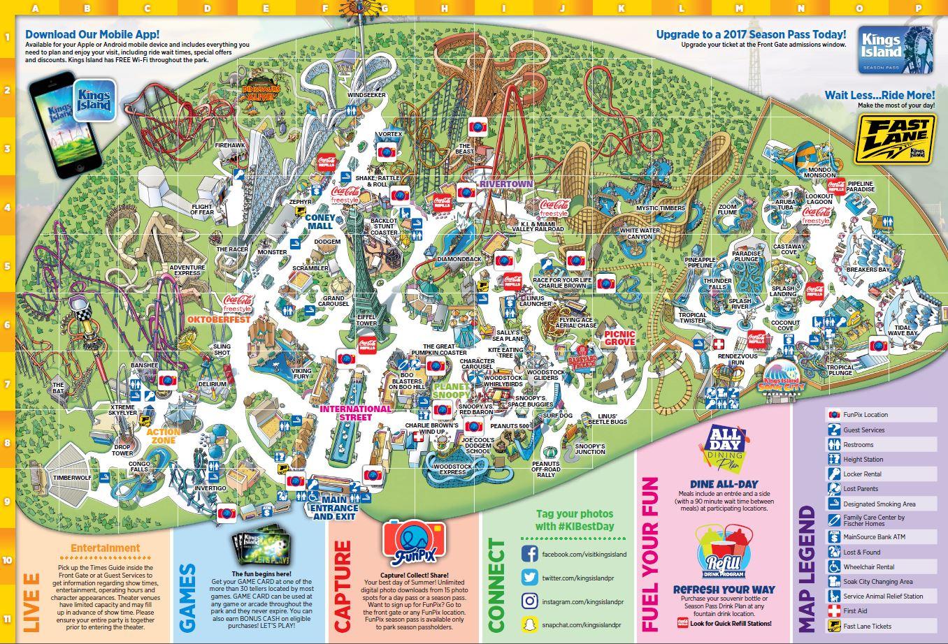 Amut Parks 2017 Cedar Point Park Map on