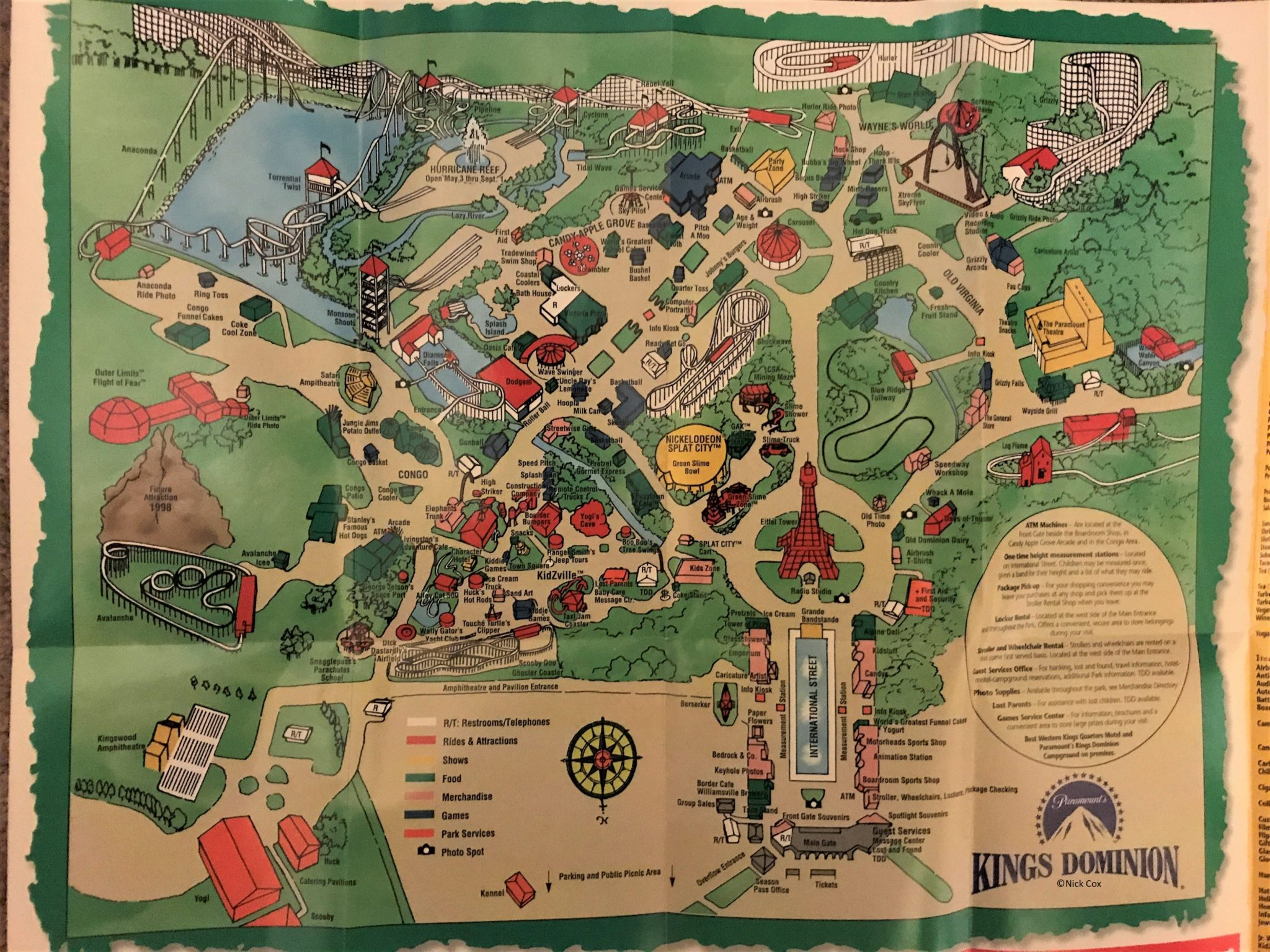 Kings Dominion Map Kings Dominion Historical Maps   CP Food Blog Kings Dominion Map