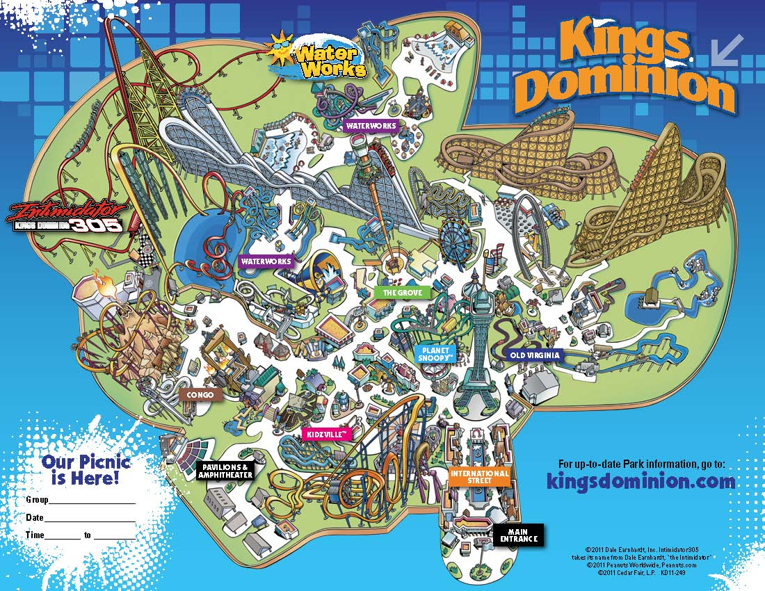Map To Kings Island Kings Dominion Historical Maps   CP Food Blog