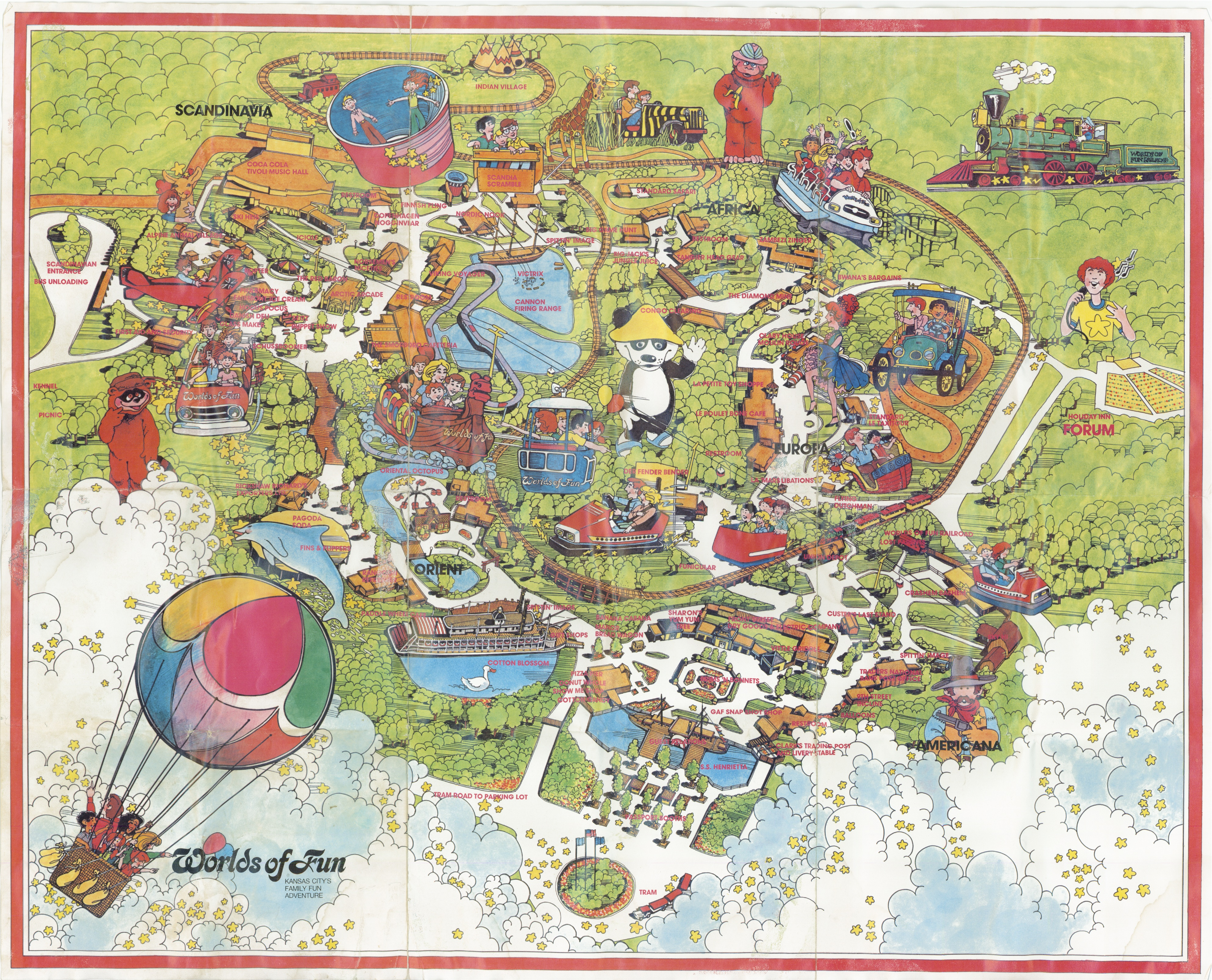 Worlds Of Fun Map Worlds of Fun Historical Maps   CP Food Blog