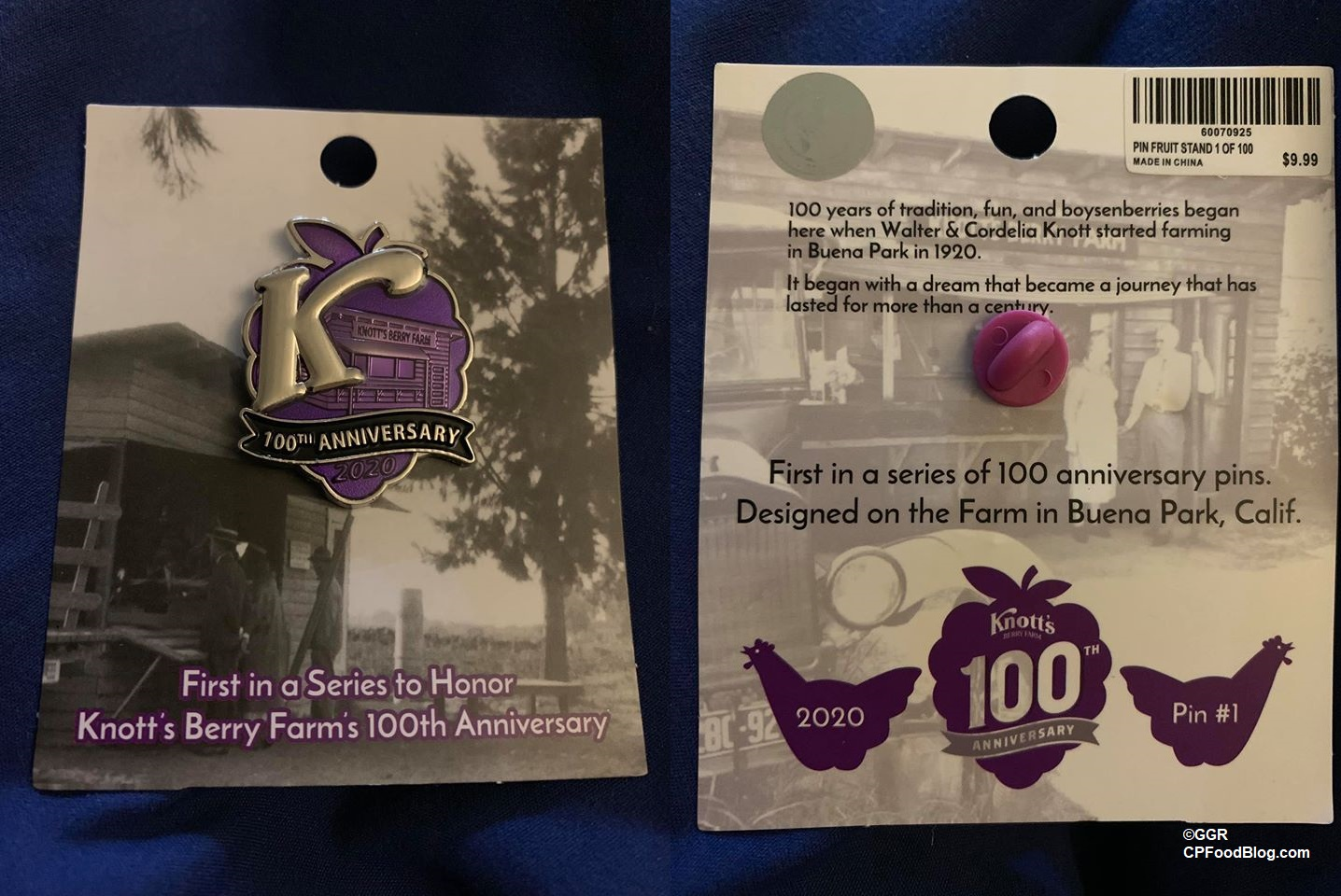 2020 Knott S Berry Farm 100th Anniversary Pin Collection Cp Food Blog